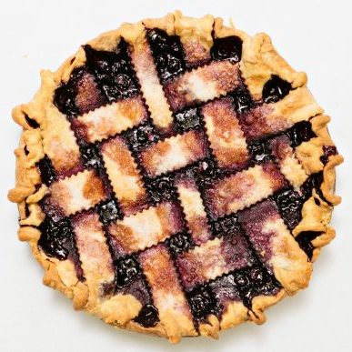 """Go Blueberry"" Pie (Lattice Crust)"
