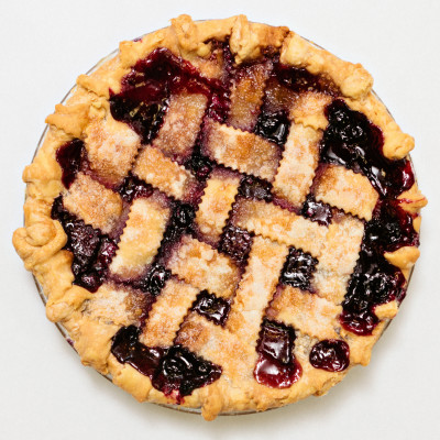Peach Blueberry Lattice